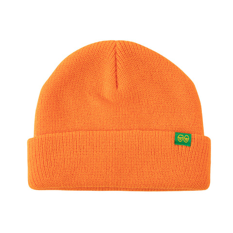 Krooked - Eyes Clip Cuff Beanie (Orange/Green)