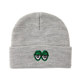 Krooked - Eyes Embroidered Beanie (Heather/Green)