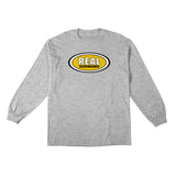 Real - Oval LS Tee (Athletic Heather/Yellow)