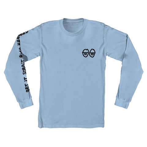 Krooked - Stock Eyes LS Tee (Baby Blue)