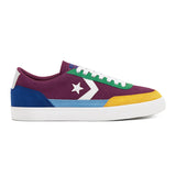 Converse - Net Star Classic Suede Twisted Prep (Rose Maroon/Amarillo/Rush Blue)