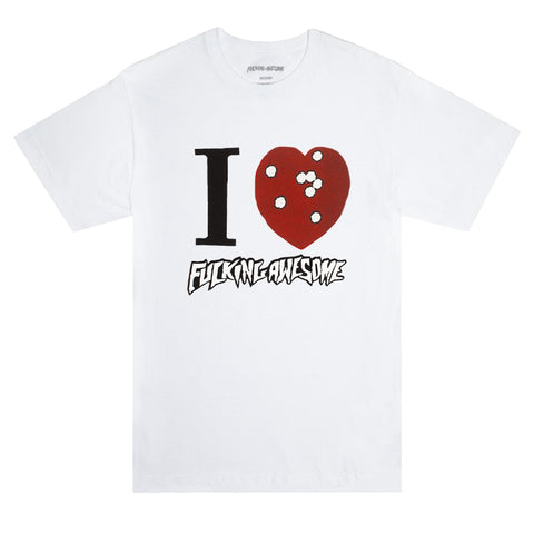 Fucking Awesome - I Heart FA Tee (White)