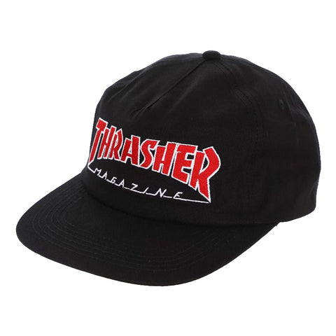 Thrasher - Outlined Snapback (Black)