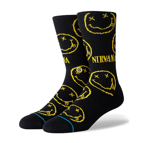 Stance - Nirvana Face Crew Sock (Black)