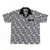 Leaf Apparel - Leaf Patterned Shirt (Black/White)