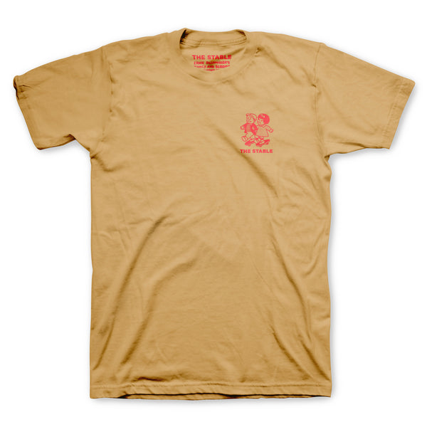 The Stable - Nancy & Sluggo Tee (Gold/Red)
