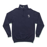 The Quiet Life - Shhh 1/4 Zip Hood (Navy)