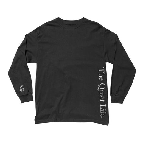 The Quiet Life - Serif LS Tee (Black)