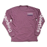 The Quiet Life - Pigment Dyed Sleeve Tee (Mauve)