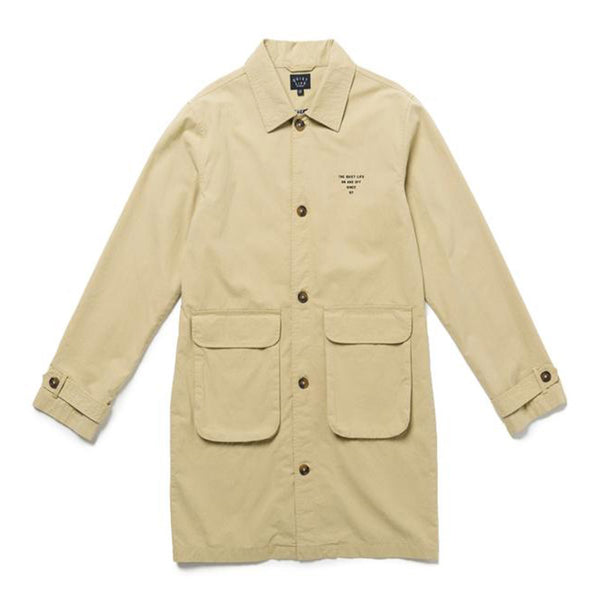 The Quiet Life - Houndstooth Trench Jacket (Tan)
