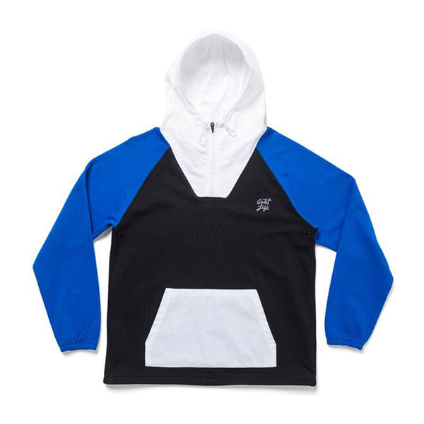 The Quiet Life - Whistler Pullover (Black/Royal/White)