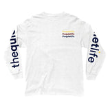 The Quiet Life -  Origin Repeat LS Tee (White)