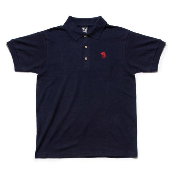 The Quiet Life - Shhh Polo Shirt (Navy)