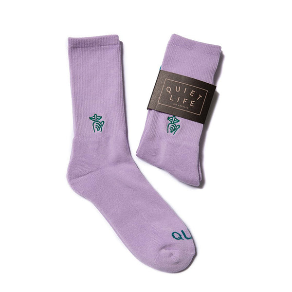 The Quiet Life - Shhh Sock (Lilac)