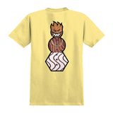 Spitfire - x Quartersnacks Snackman Tee (Banana/Black)