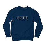 The Quiet Life - Reverse Logo Crew (Navy)
