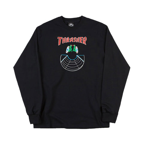 Thrasher - Doubles LS Tee (Black)