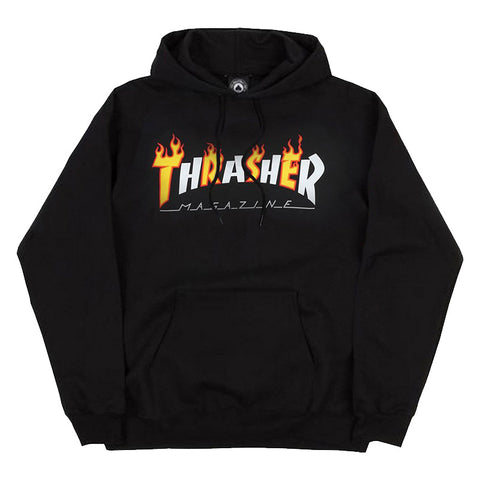 Thrasher - Flame Mag Hood (Black)
