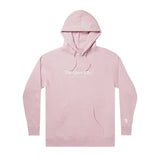 The Quiet Life - Serif Embroidery Hood (Dusty Pink)