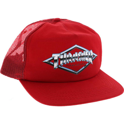 Thrasher - Diamond Emblem Trucker Hat (Red)