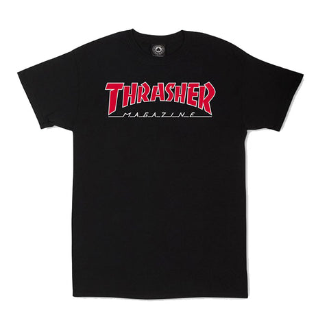 Thrasher - Outlined Tee (Black)