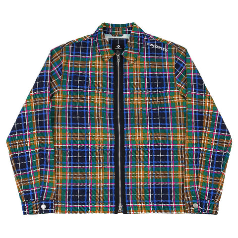 Converse - Utility Fleece Printed Shirt Jacket (Tartan)