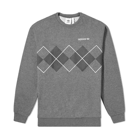 adidas - Argyle Crew (Dark Grey/Heather)
