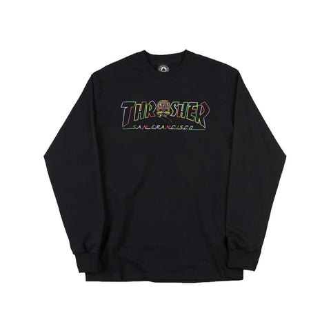 Thrasher - Cable Car LS Tee (Black)