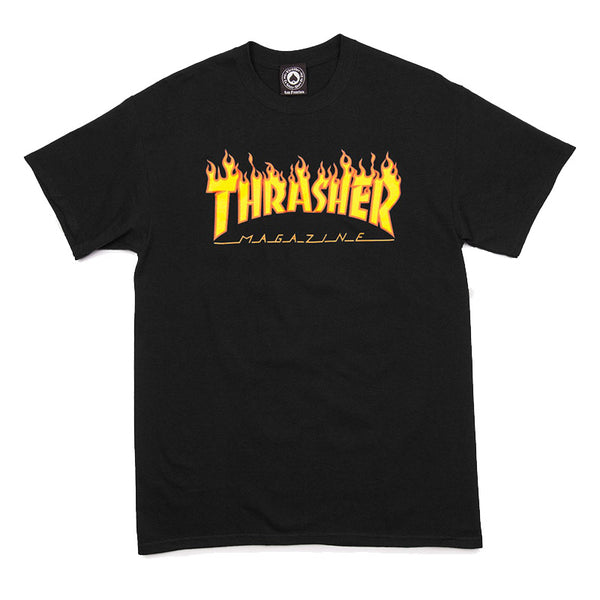 Thrasher - Flame Logo Tee (Black)