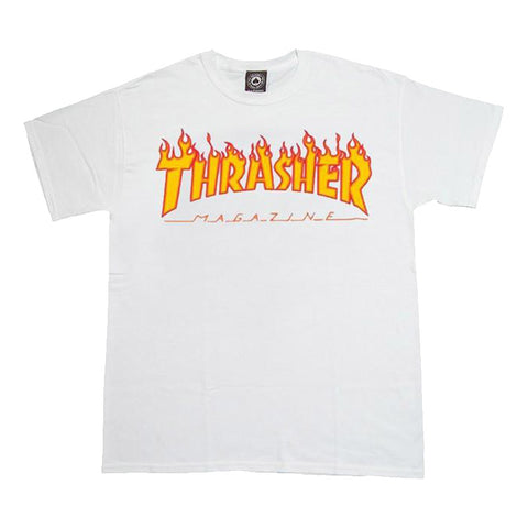 Thrasher - Flame Logo Tee (White)