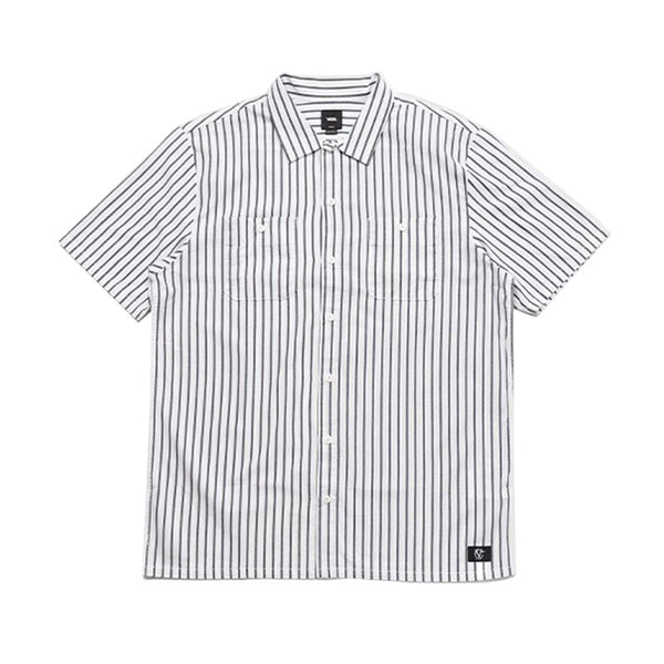 Vans - Rowan Workwear Striped Shirt (White/Dress Blue)