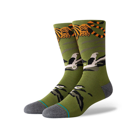 Stance - Big Cat Crew Sock (Green)