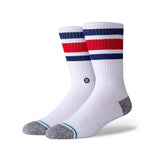 Stance - Boyd Crew Sock (White/Red/Blue)