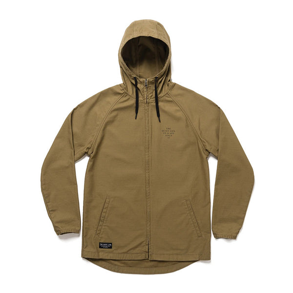 The Quiet Life - Canvas Hooded Jacket (Bark)
