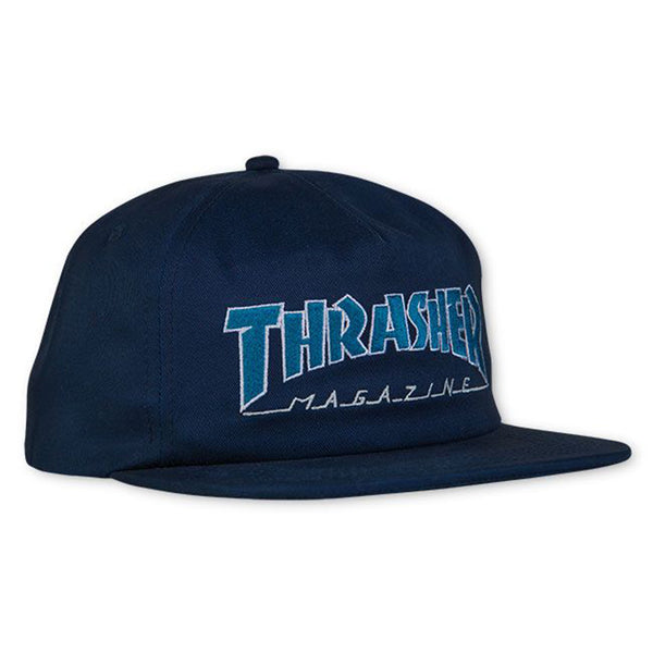 Thrasher - Outlined Snapback (Navy/Grey)