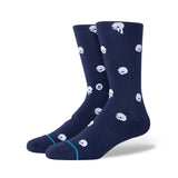 Stance - Skully Crew Sock (Navy/White)