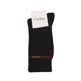 Civilist - Rainbow Socks (Black)