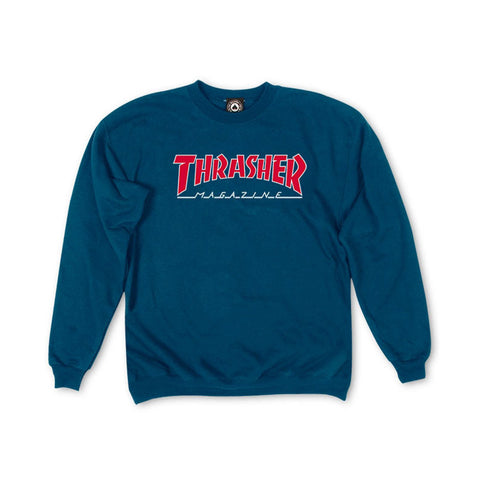 Thrasher - Outlined Crew (Navy)