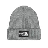 The North Face - Logo Box Cuffed Beanie (Medium Grey Heather)