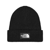The North Face - Logo Box Cuffed Beanie (Black)