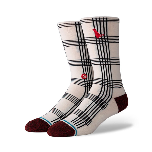 Stance - Rat Plaid SP20 Crew Sock (White)