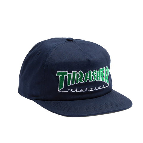 Thrasher - Outlined Snapback (Navy/Green)
