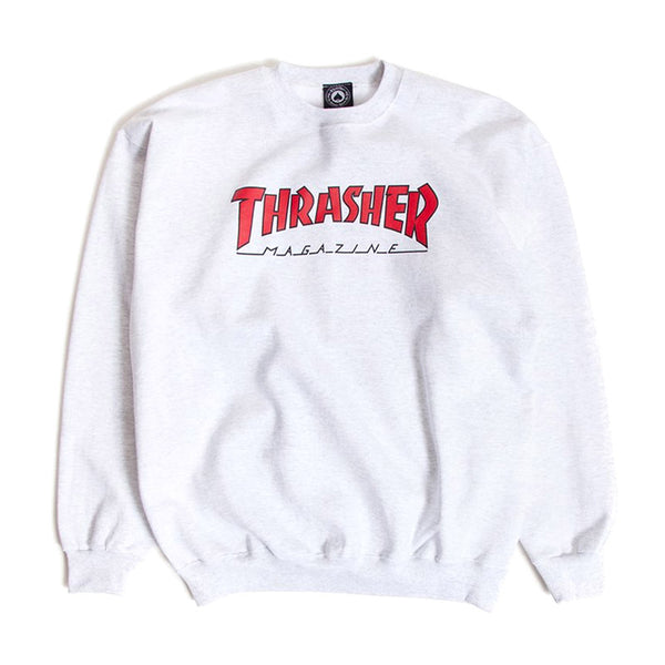 Thrasher - Outlined Crew (Ash Grey)