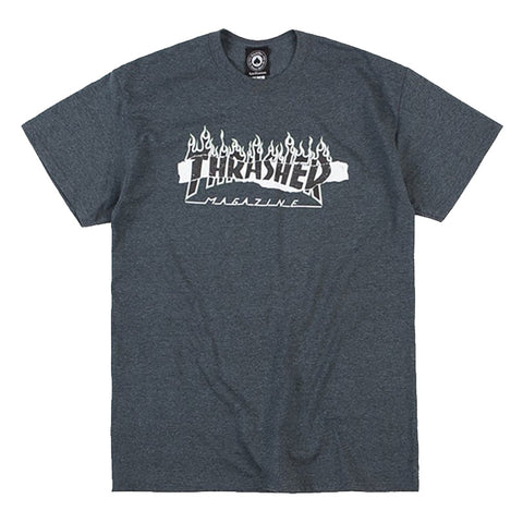 Thrasher - Ripped Tee (Dark Heather)