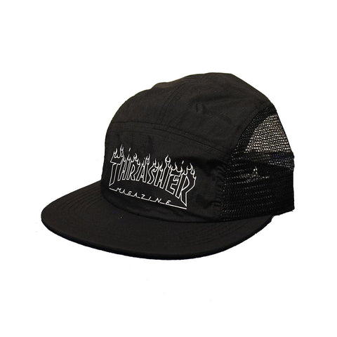 Thrasher - Flame Outline 5 Panel (Black)