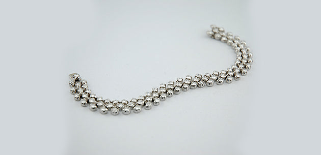 Collier platino e brillanti