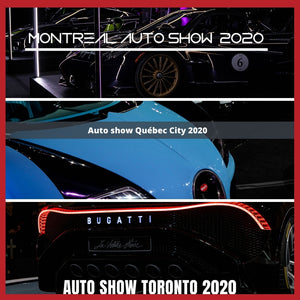 Summary of 3 auto shows : Montreal, Toronto & Quebec