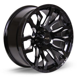Patton - Gloss Black Milled Spoke