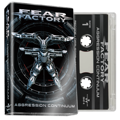 FEAR FACTORY Aggression Continuum (Clear Cassette) - BRAND NEW CASSETTE TAPE [pre-order]