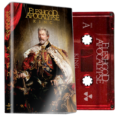 FLESHGOD APOCALYPSE - King (Red Cassette) - BRAND NEW CASSETTE TAPE